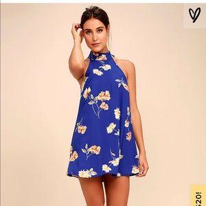 LULUS Floral Print Swing Dress Size M